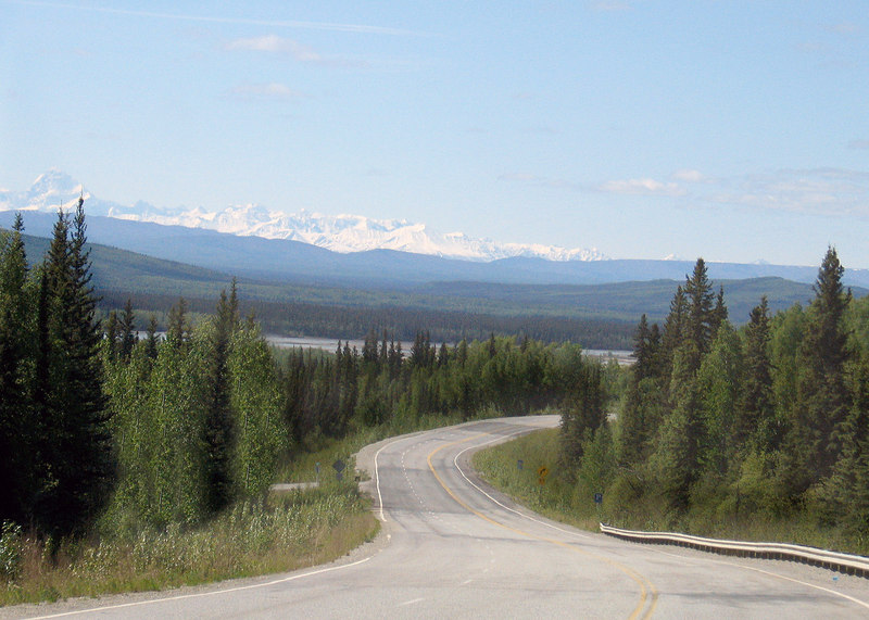 Birch Lake in distance about 55 miles south of Fairbanks, AK