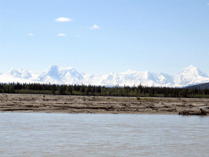 Tanana River and the Alaska Range about 73 miles south of Fairbanks, AK