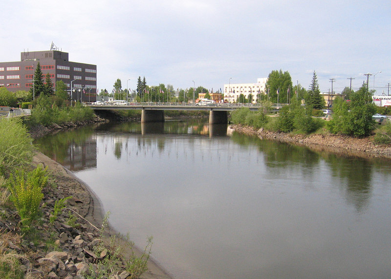 Fairbanks with the Chena River