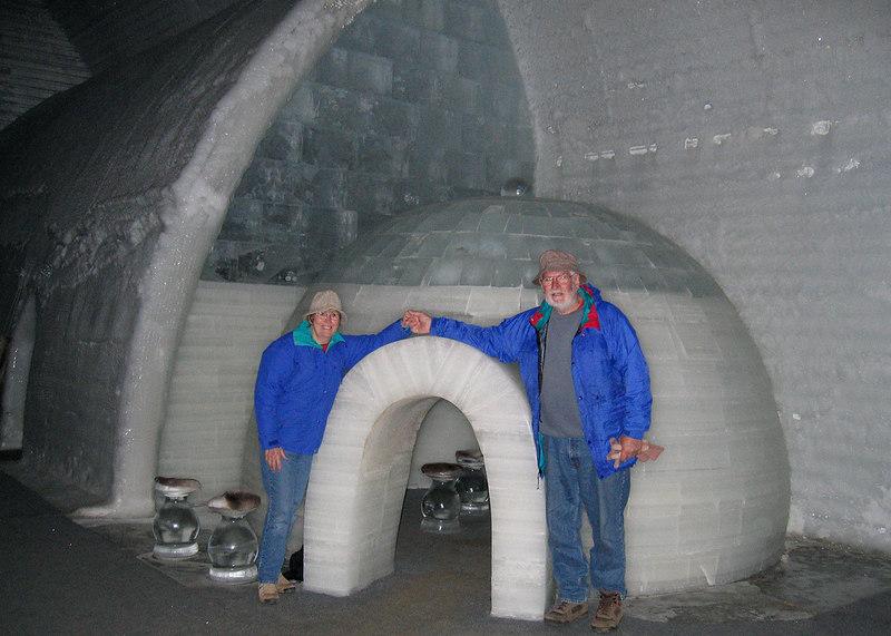 Susan and Mike at igloo