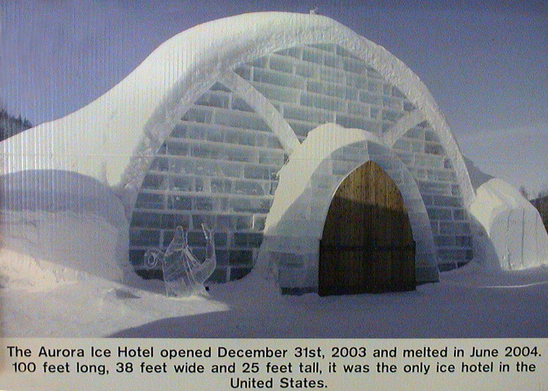 Picture of what the original Aurora Ice Hotel looked like