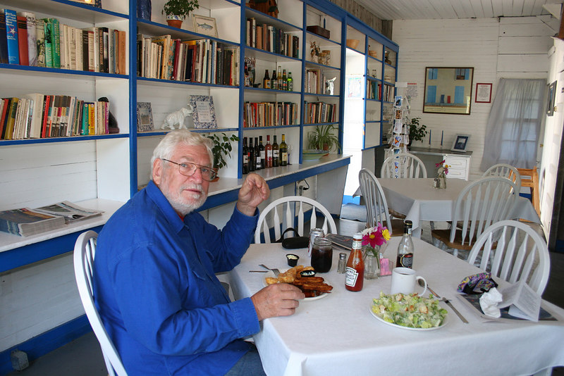 Mike at Seaview Cafe in Hope, AK