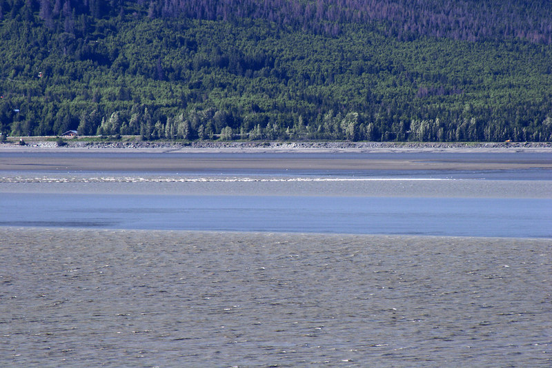 Bore tide in Turnagain Arm from near Hope, AK