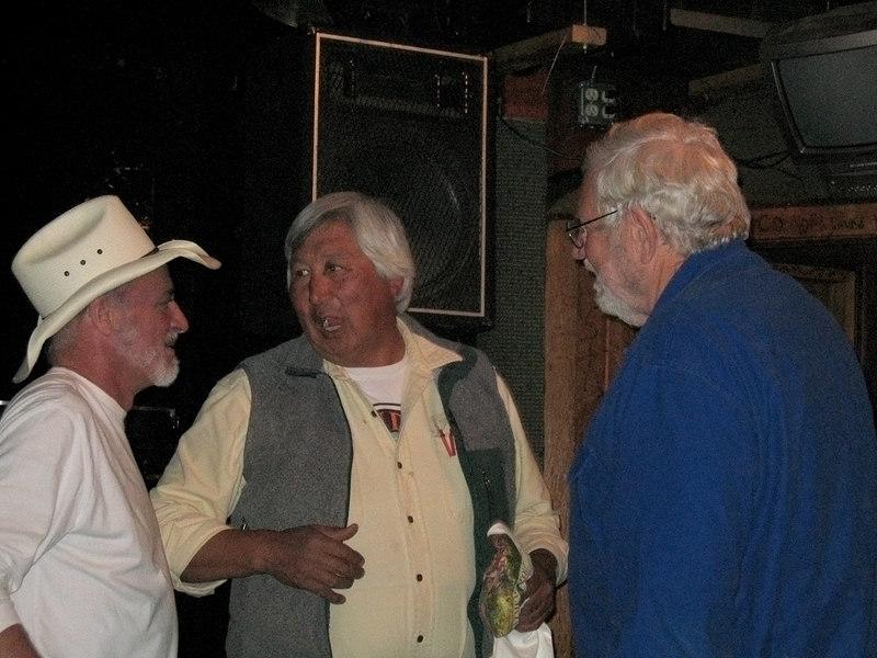 Mike right talking with Hobo Jim on left Yukon Bar, Seward, AK