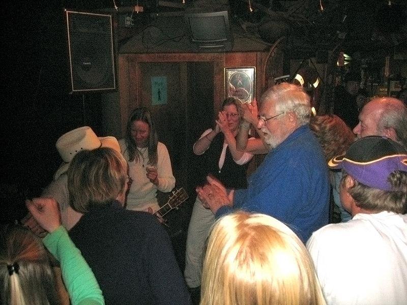 Mike and Susan dancing at the Yukon Bar, Seward, AK