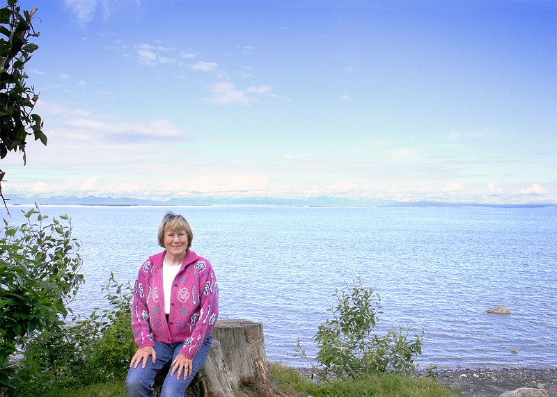 Susan at Discovery Campground in Captain Cook State Recreation Area, Kenai, AK