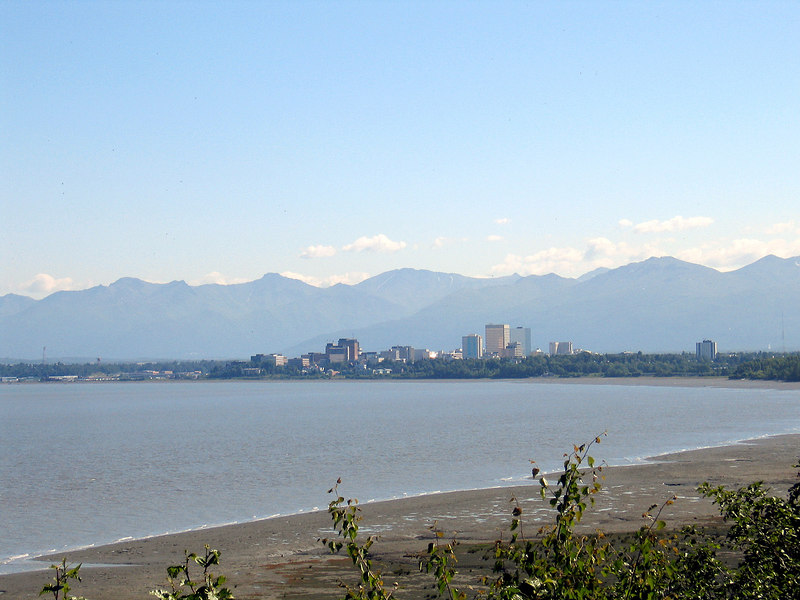 Anchorage as seen from the trail