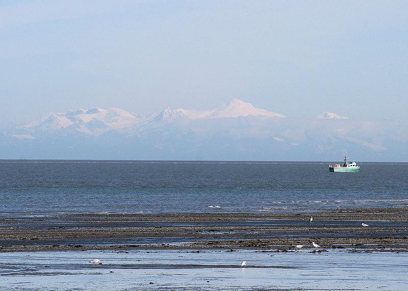 Mt. Spurr as seen from beach at Ninilchik Village, AK