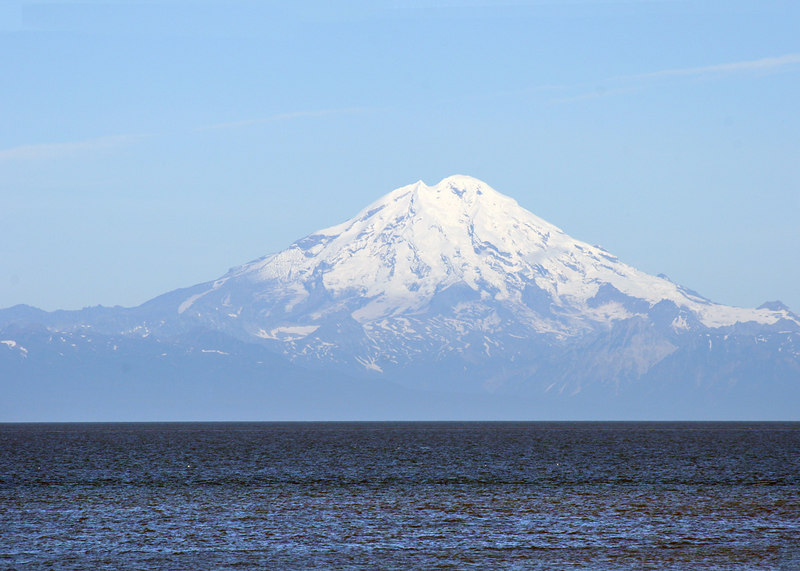 Mt. Redoubt as seen from beach at Ninilchik Village, AK