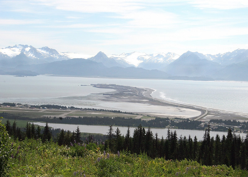 Homer Spit from Baycrest Wayside as you are coming into Homer, AK