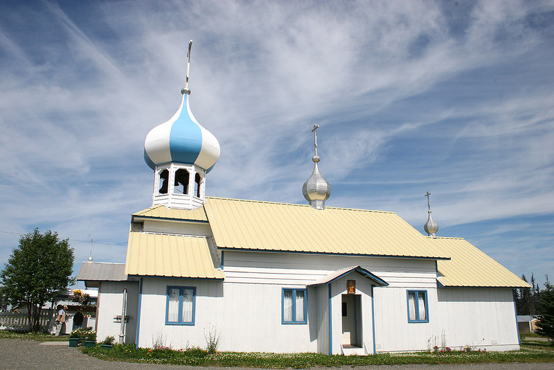 St. Nicholas church at Nikolaevsk, AK, off North Fork Road.