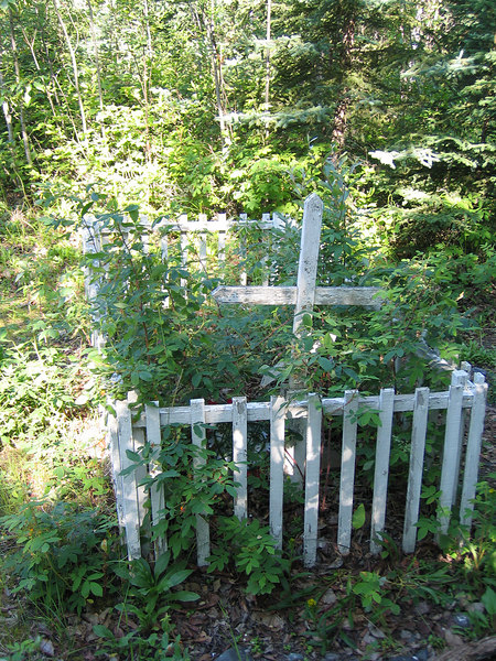 Grave without spirit house