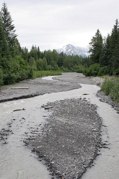 Glacier Creek just before Stoney Creek RV Park in Seward which is where we will be staying