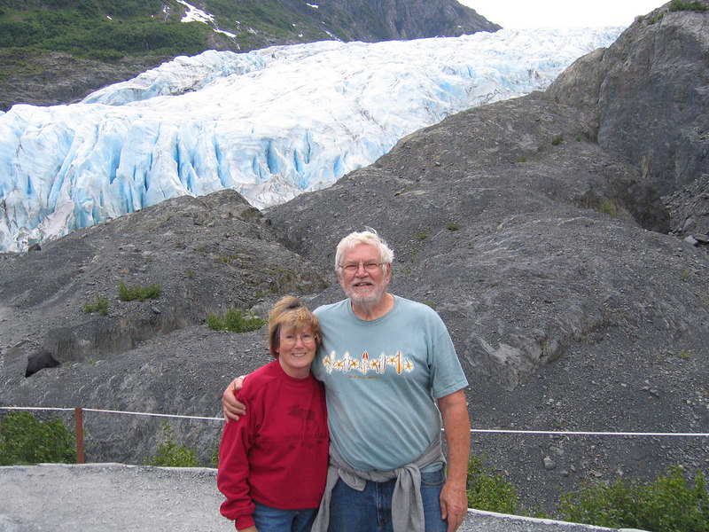 Susan and Mike at Exit Glacier