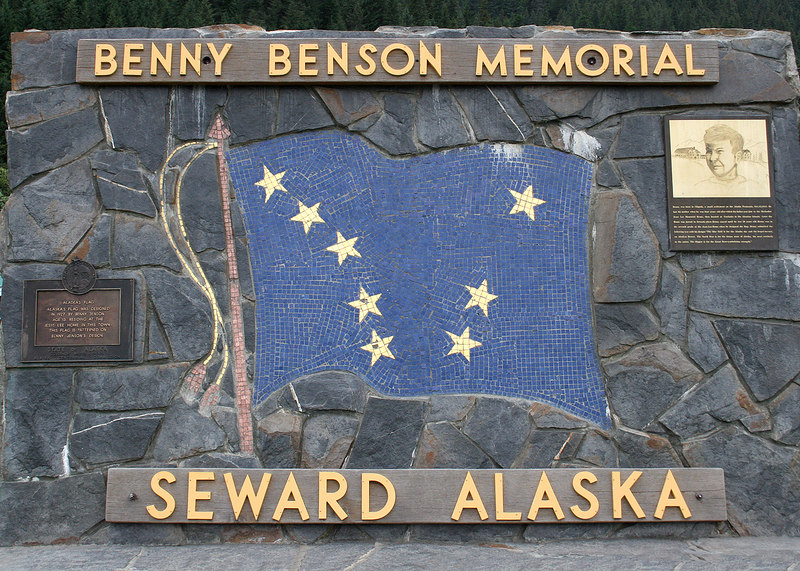 The Alaskan state Flag