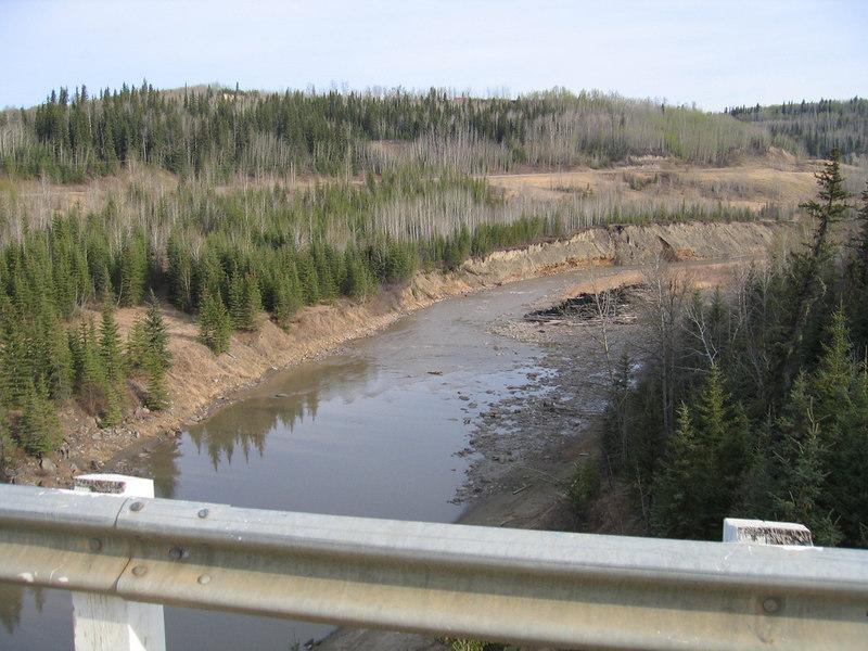 5/11/06 - The Kiskatinaw River from the bridge
