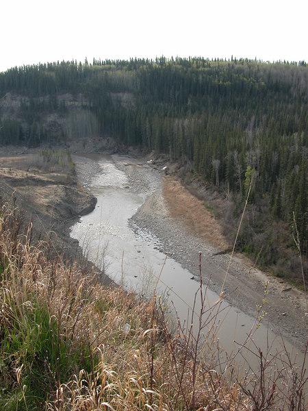 5/11/06 - The Kiskatinaw River from the new bridge