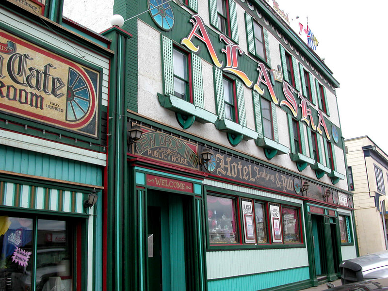 5/10/06 - The old Dew Drop Inn, now the Alaska Hotel