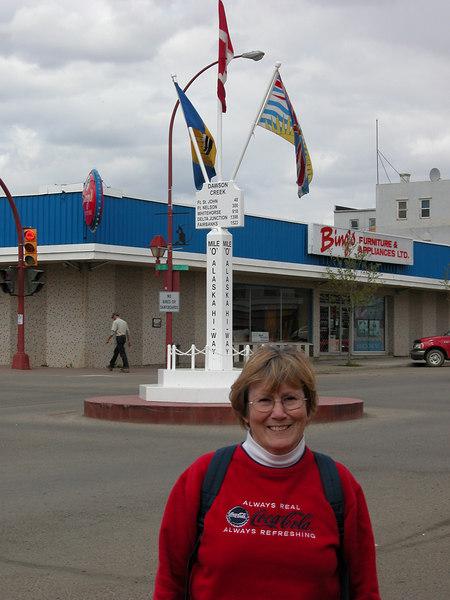 5/10/06 - Susan at the Mile 0 marker