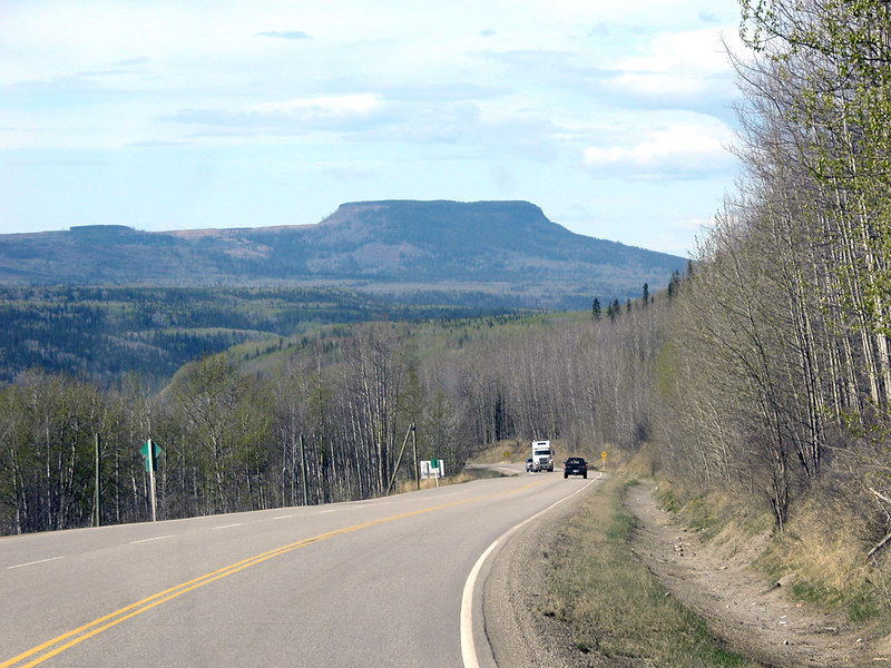 Table Rock about 40 miles south of Dawson Creek