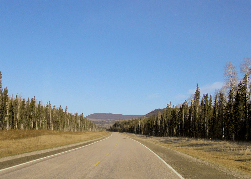 About 20 miles north of Liard Hot Springs, BC