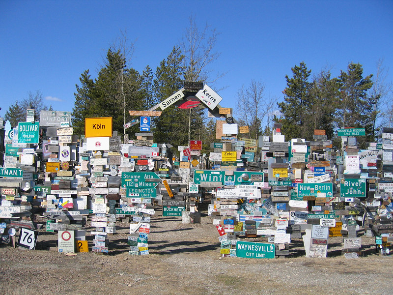 Sign Post Forest in Watson Lake, YT