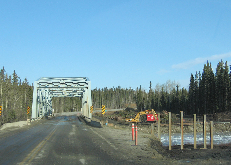 Smith River bridge and the new bridge they are building