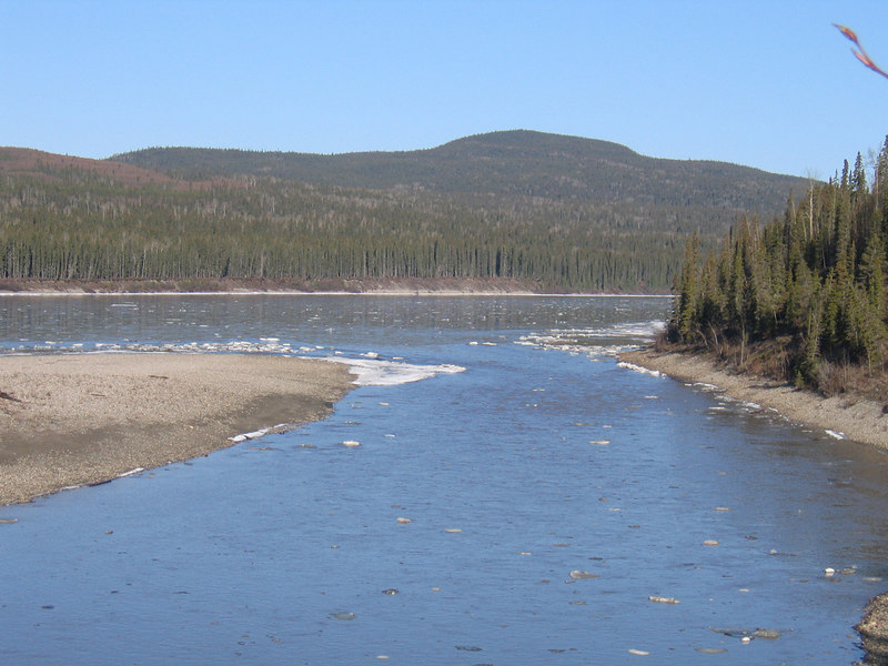 Liard River about 22 miles north of Liard Hot Springs, BC