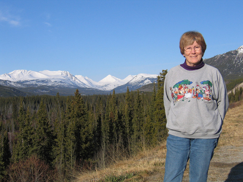 Susan about 60 miles west of Watson Lake, YT
