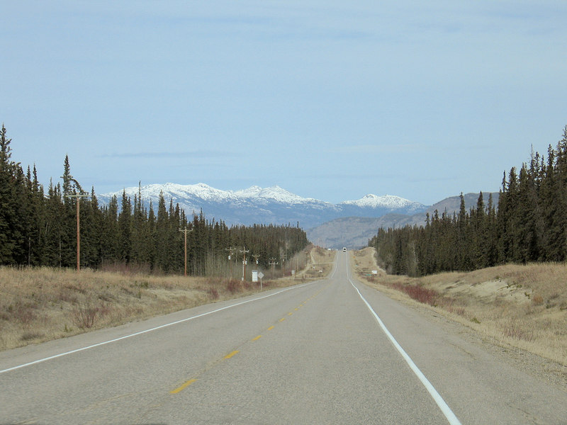 About 60 miles east of Whitehorse, YT