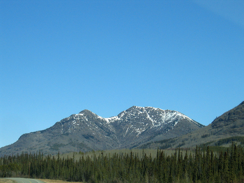 About 18 miles west of Teslin, YT