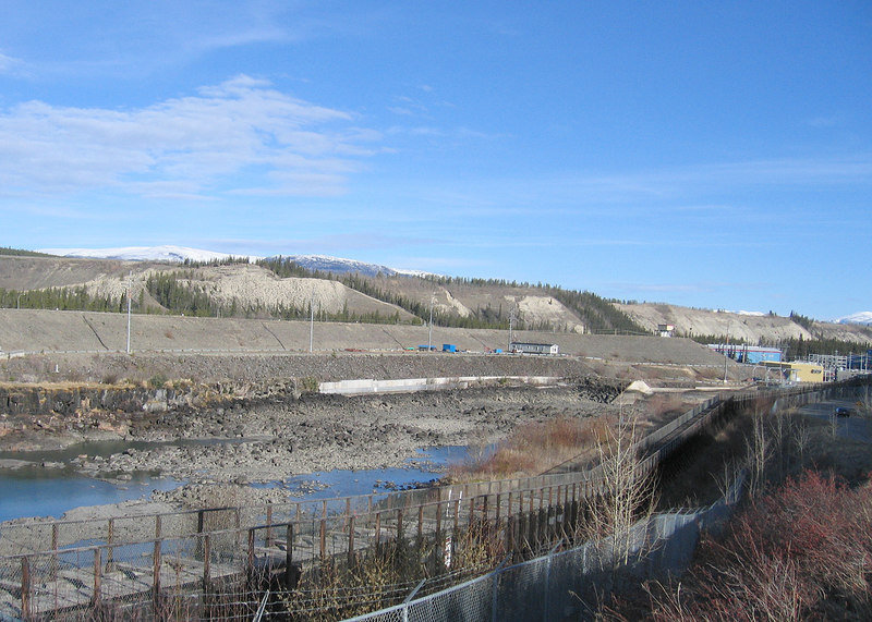 5/18/06 - The Whitehorse Fishway contains underwater viewing windows as well as outside viewing platforms and the fish ladder.