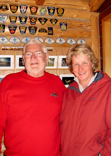 5/18/06 - Mike and Eve.  Eve, along with her husband, Herb own of the Caribou RV Park