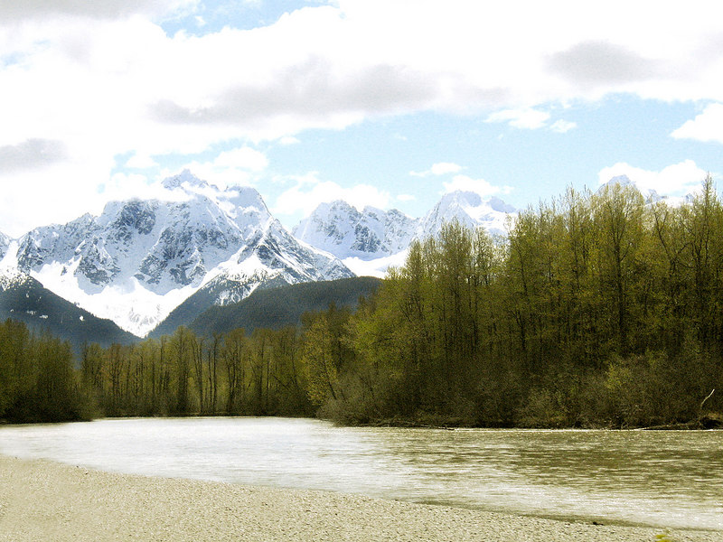 Chilkat River about 15 miles east of Haines