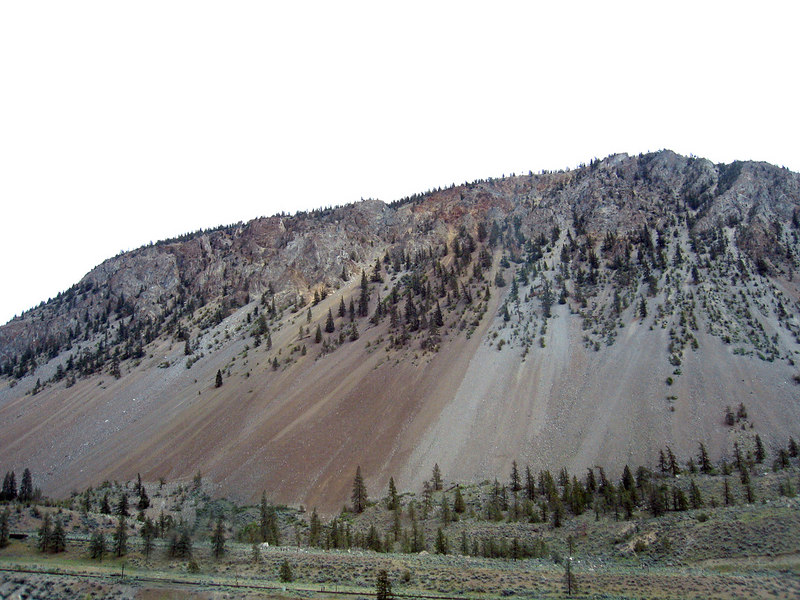 Hillside about 10 miles south of Cache Creek, BC