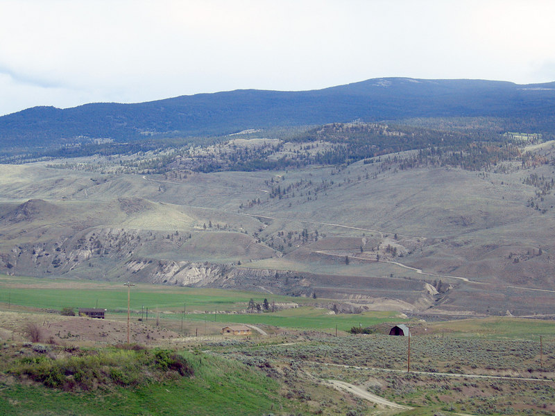 About 5 miles south of Cache Creek, BC