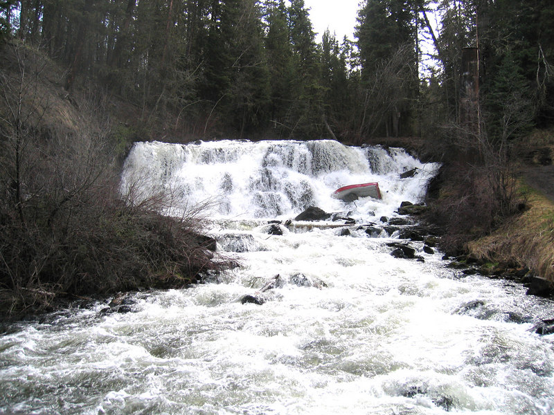 Bridge Creek Falls in 100 Mile House, BC