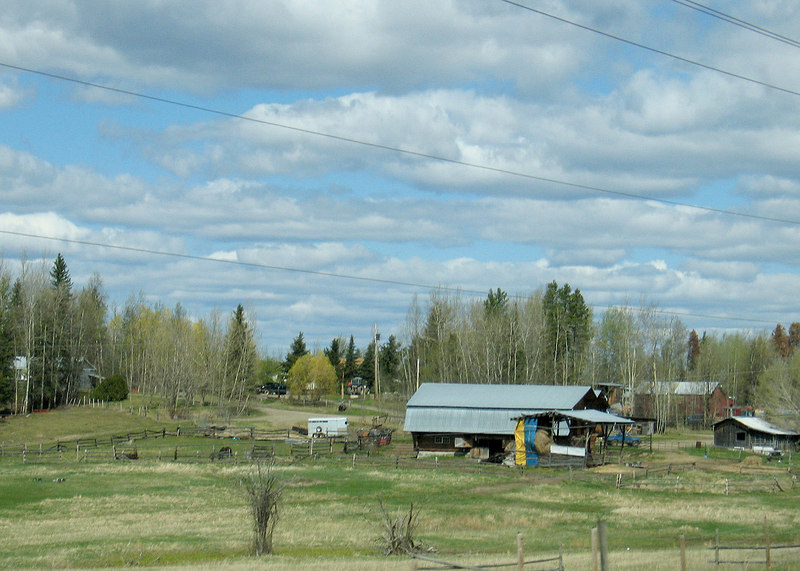 About 20 miles south of Prince George, BC