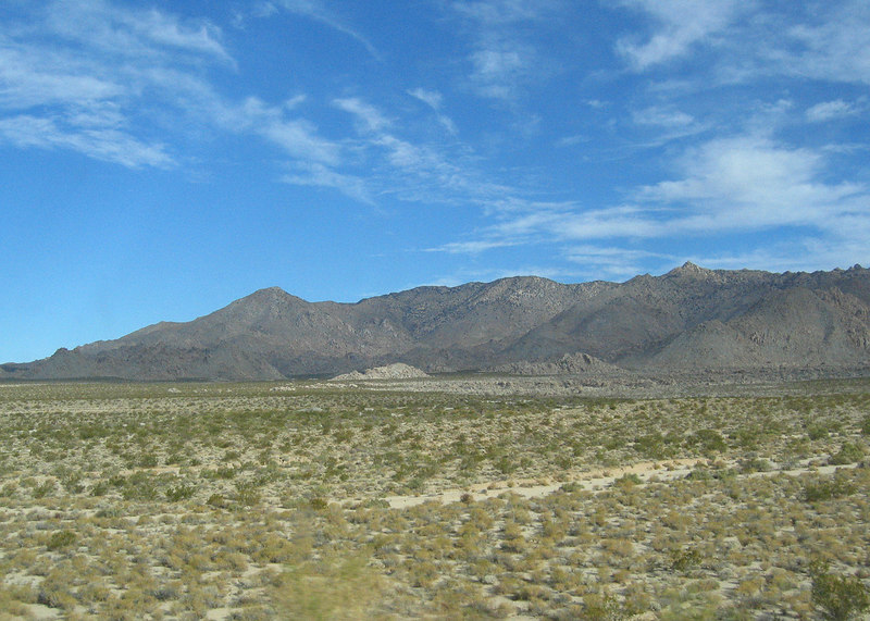 Desert and mountains between Needles, CA and Newberry Springs, CA