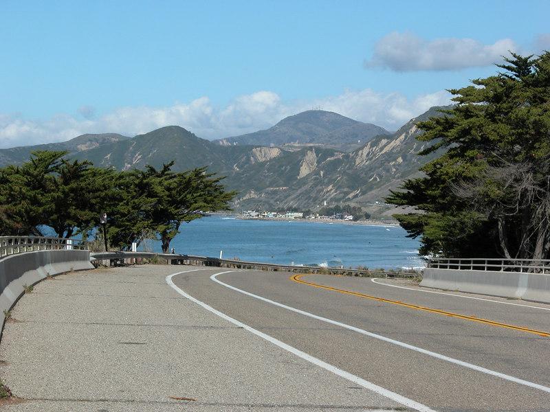 View from bike path in Ventura, CA