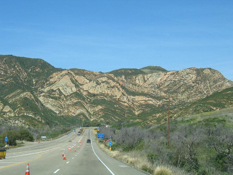 Heading towards the pass north of Santa Barbara, CA