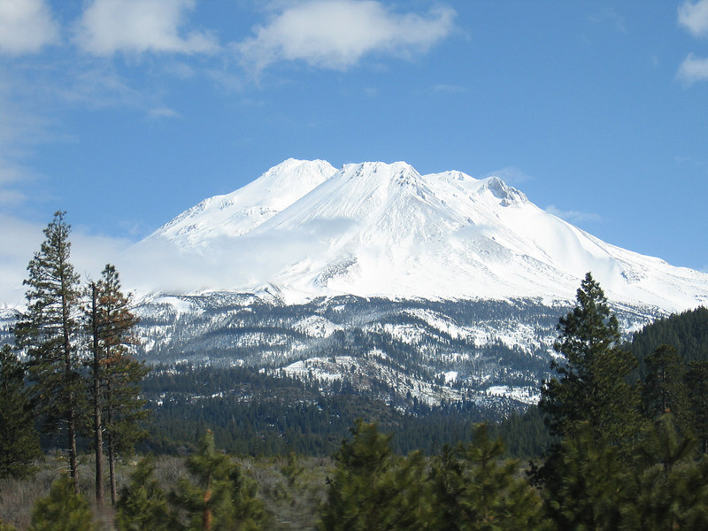 Mt. Shasta as seen from Weed, CA