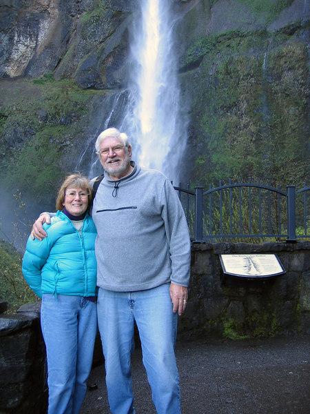 Susan and Mike at Multnomah Falls