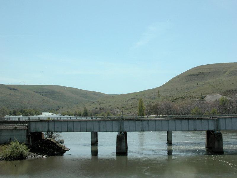The Deschutes River coming into the Columbia River