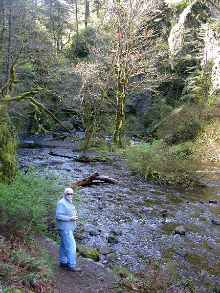 Mike at Oneonta Gorge