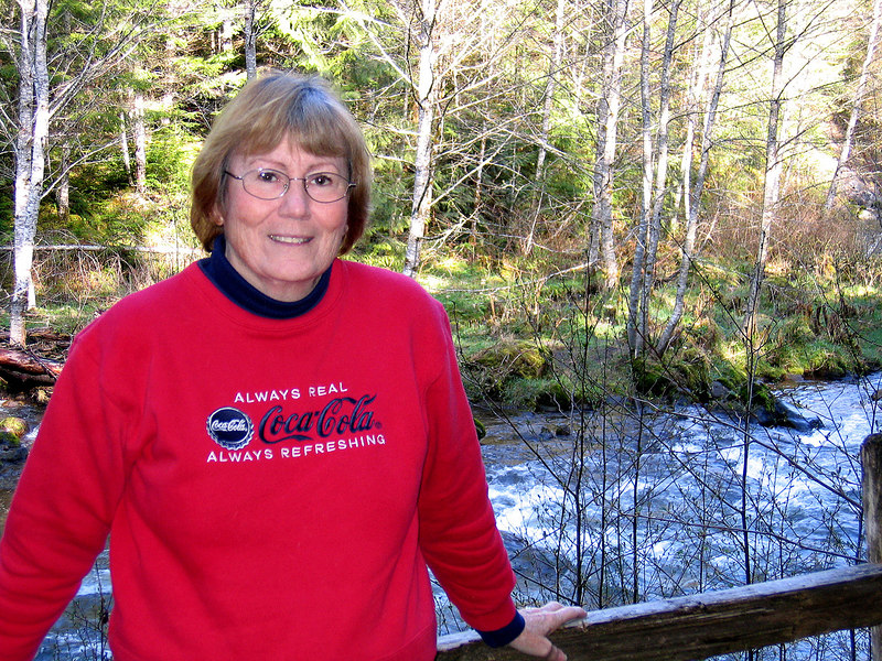 Susan by the Sandy River in Tollgate Park, OR