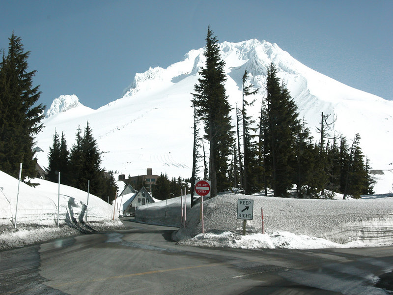 Mt. Hood as we are coming up to Timberline Lodge