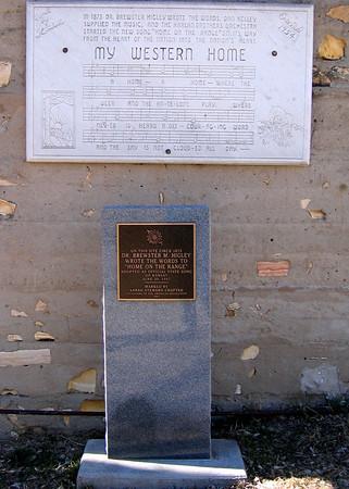 Smith Center, KS, where Home on the Range was written - 2/22/06