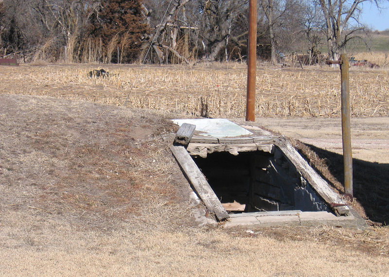 Root cellar next to house across the driveway from the cabin.