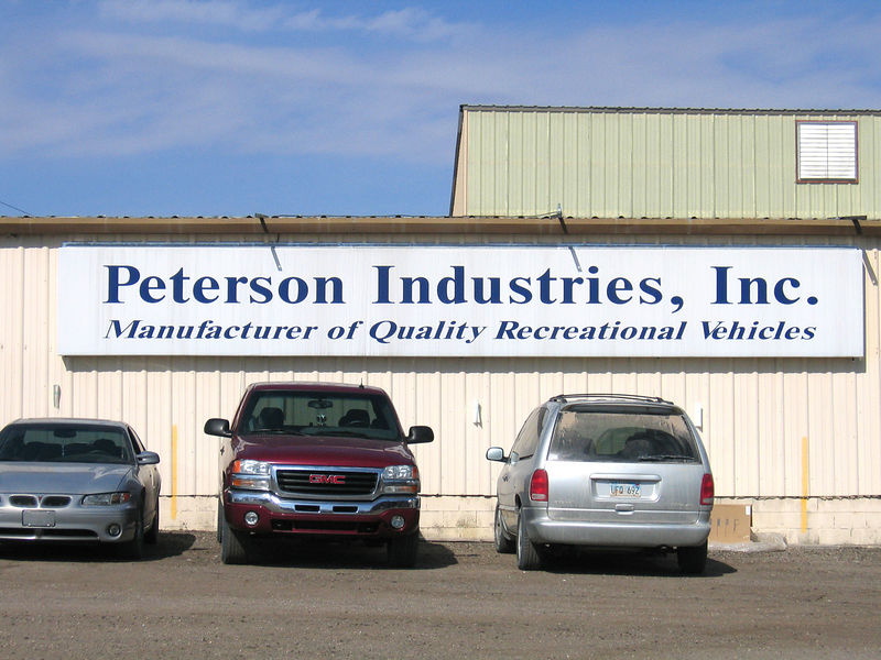 Entrance to Peterson Industries manufacturing plant